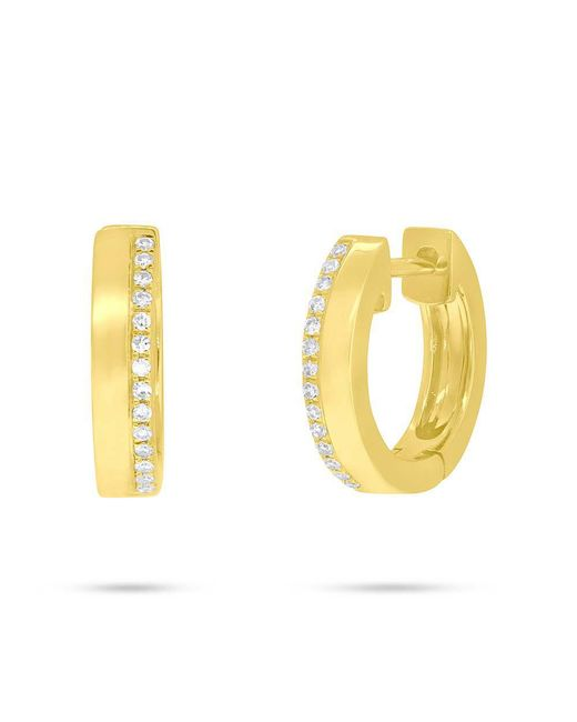 Anne Sisteron - Metallic 14kt Yellow Gold Diamond Huggie Earrings - Lyst