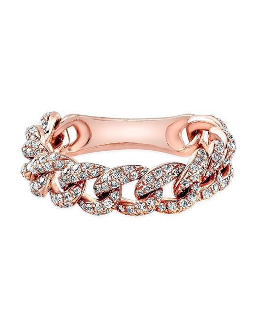 Anne Sisteron - Multicolor 14kt Rose Gold Diamond Mini Lattice Ring - Lyst