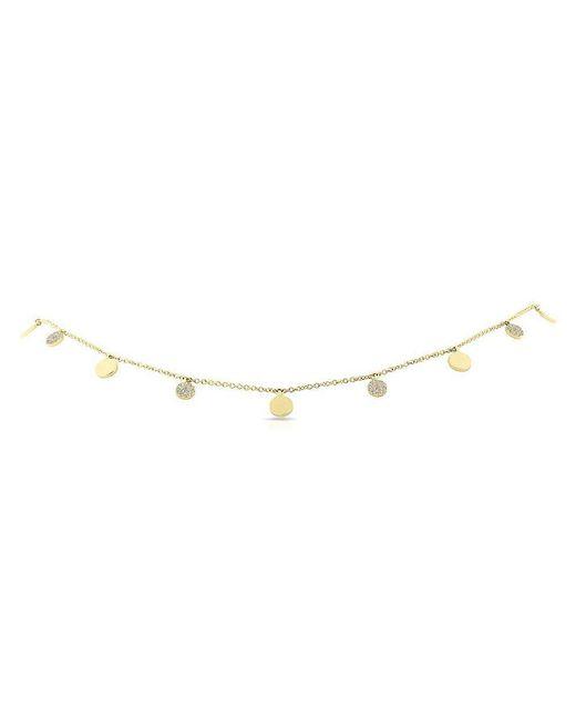 Anne Sisteron - Metallic 14kt Yellow Gold Diamond Multi Circle Necklace - Lyst