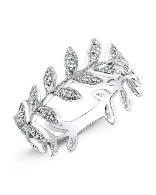 Anne Sisteron - Metallic 14kt White Gold Diamond Wreath Ring - Lyst