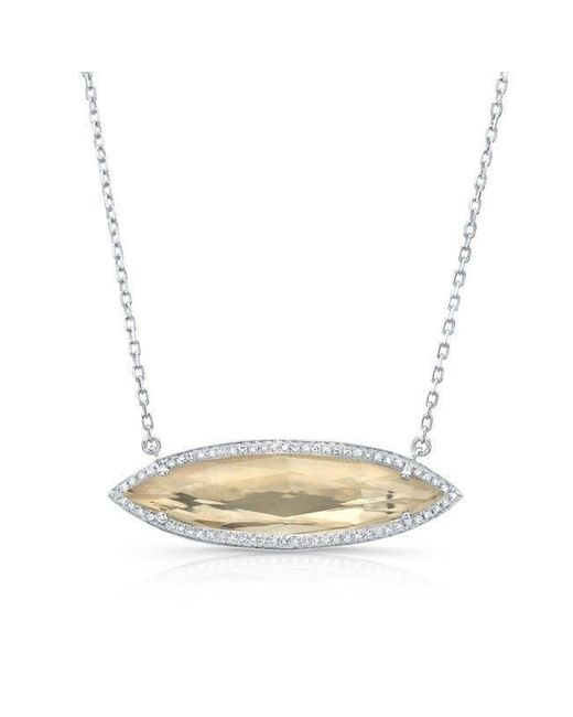 Anne Sisteron - Metallic 14kt White Gold Diamond Serena Necklace - Lyst
