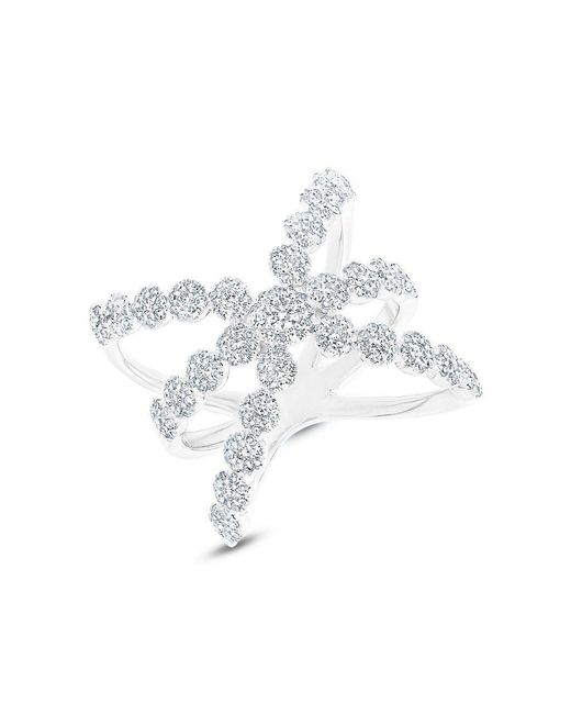 Anne Sisteron - Metallic 14kt White Gold Diamond Harper Ring - Lyst