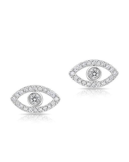 Anne Sisteron - Metallic 14kt White Gold Mini Evil Eye Diamond Stud Earrings - Lyst