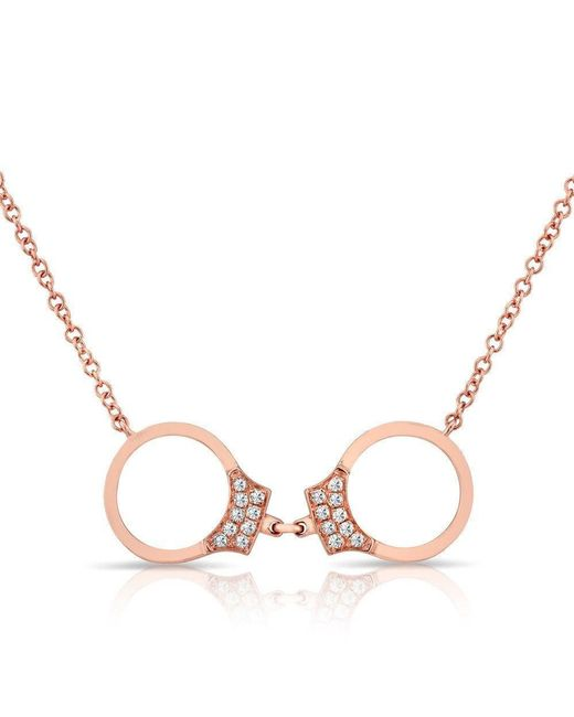 Anne Sisteron | Multicolor 14kt Rose Gold Diamond Handcuff Necklace | Lyst