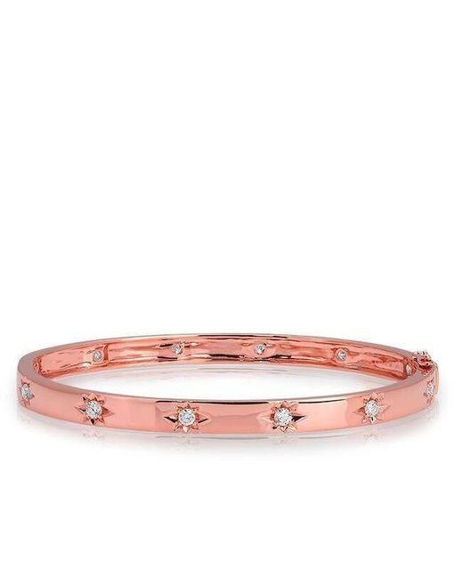 Anne Sisteron - Multicolor 14kt Rose Gold Diamond Starburst Bangle Bracelet - Lyst
