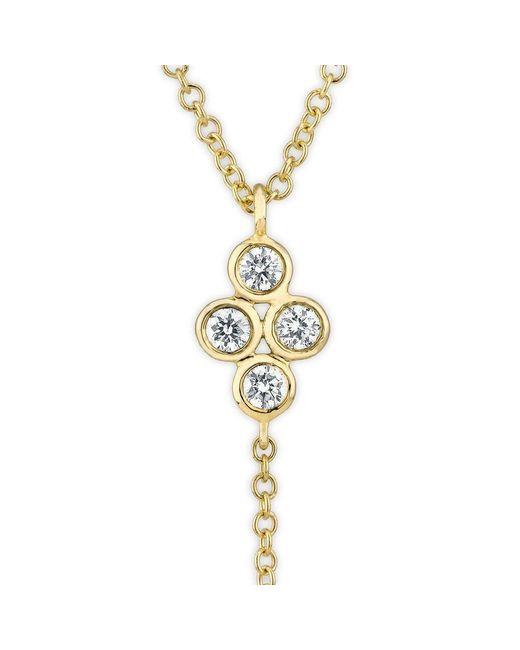 Anne Sisteron | Metallic 14kt Yellow Gold Diamond Bezel Flower Flirt Lariat Necklace | Lyst