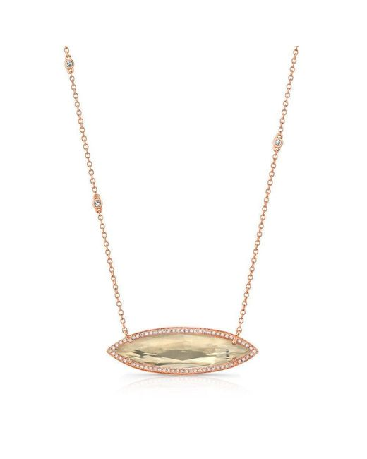 Anne Sisteron - Metallic 14kt Rose Gold Triple Diamond Chain Serena Necklace - Lyst