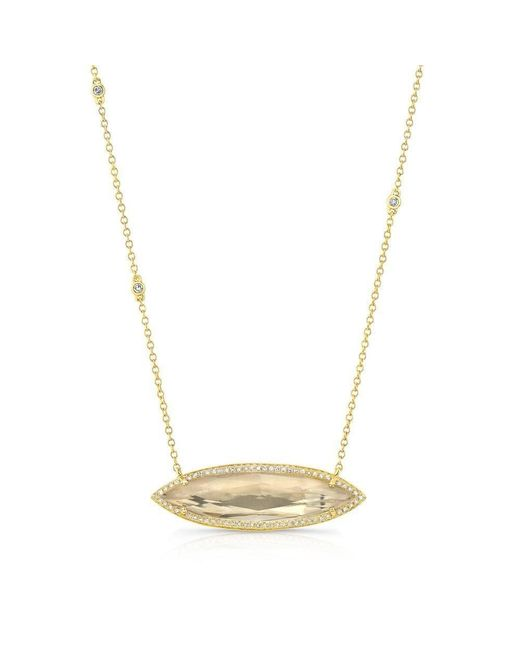 Anne Sisteron - Metallic 14kt Yellow Gold Triple Diamond Chain Serena Necklace - Lyst