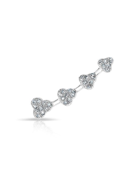 Anne Sisteron - Metallic 14kt White Gold Diamond Hearts Ear Climber - Lyst