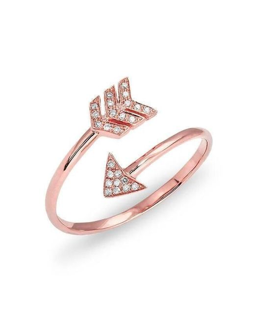 Anne Sisteron - Multicolor 14kt Rose Gold Diamond Mini Arrow Wrap Ring - Lyst
