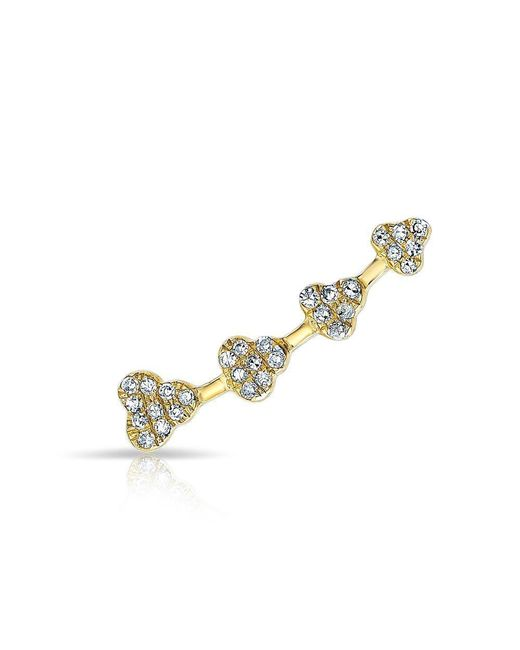 Anne Sisteron - Metallic 14kt Yellow Gold Diamond Hearts Ear Climber - Lyst