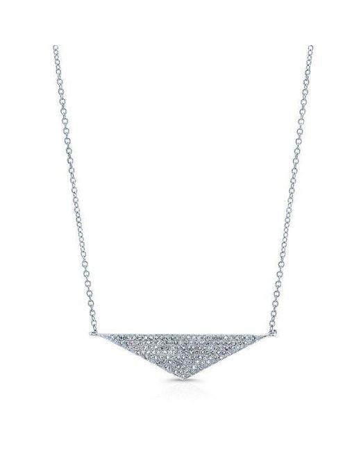 Anne Sisteron - Metallic 14kt White Gold Diamond Golden Triangle Necklace - Lyst