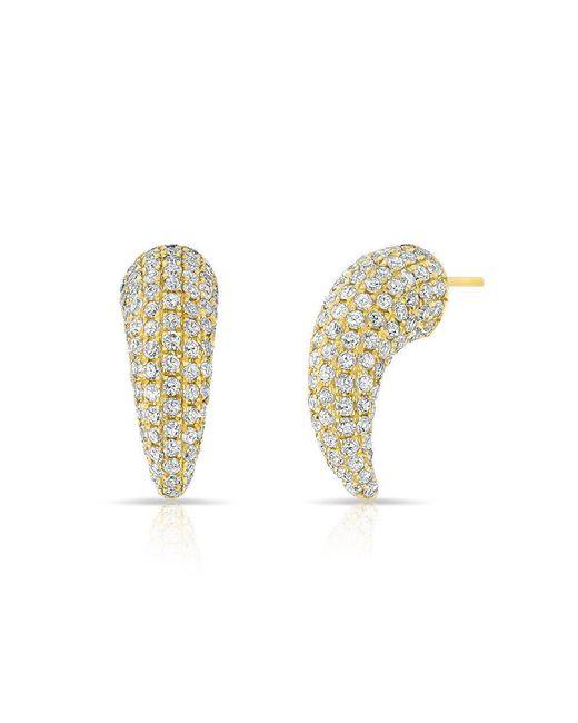 Anne Sisteron - Metallic 14kt Yellow Gold Diamond Talon Stud Earrings - Lyst