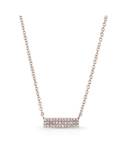 Anne Sisteron - Multicolor 14kt Rose Gold Diamond Starburst Necklace - Lyst