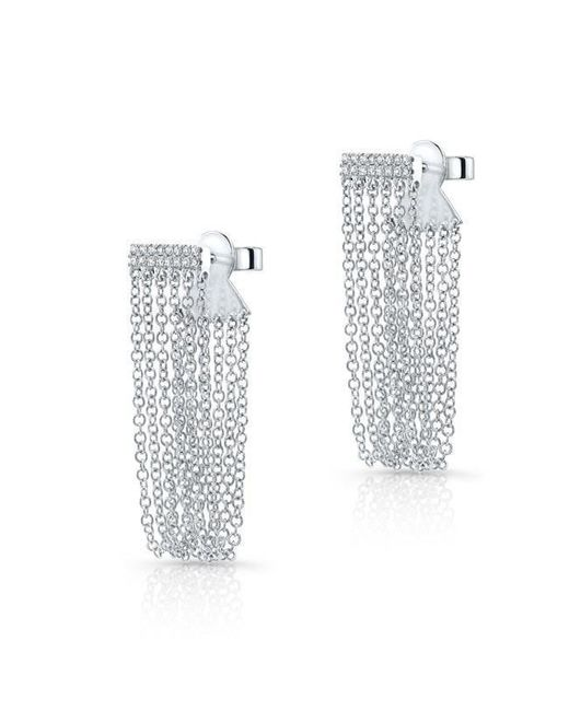 Anne Sisteron | Multicolor 14kt White Gold Diamond Bar Veil Earrings | Lyst