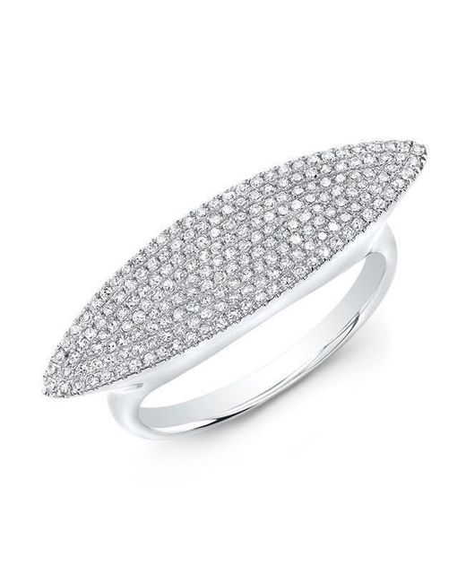 Anne Sisteron - Metallic 14kt White Gold Diamond Capri Ring - Lyst