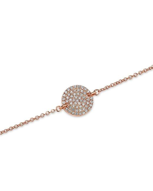 Anne Sisteron | Metallic 14kt Rose Gold Diamond Disc Chain Bracelet | Lyst