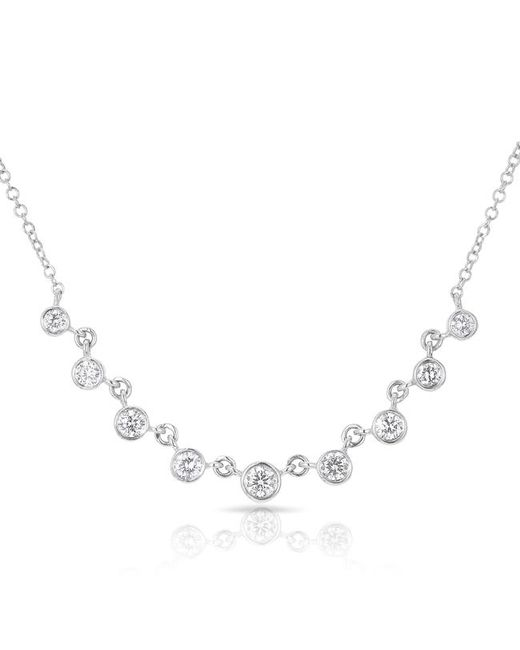 Anne Sisteron - Multicolor 14kt White Gold Diamond Diana Necklace - Lyst