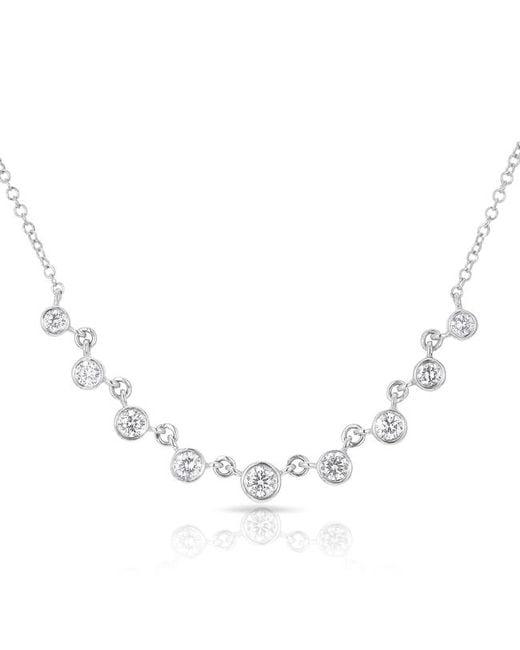 Anne Sisteron | Multicolor 14kt White Gold Diamond Diana Necklace | Lyst