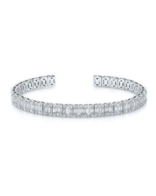 Anne Sisteron   Metallic 18kt White Gold Baguette Diamond Luxe Cuff Bracelet   Lyst