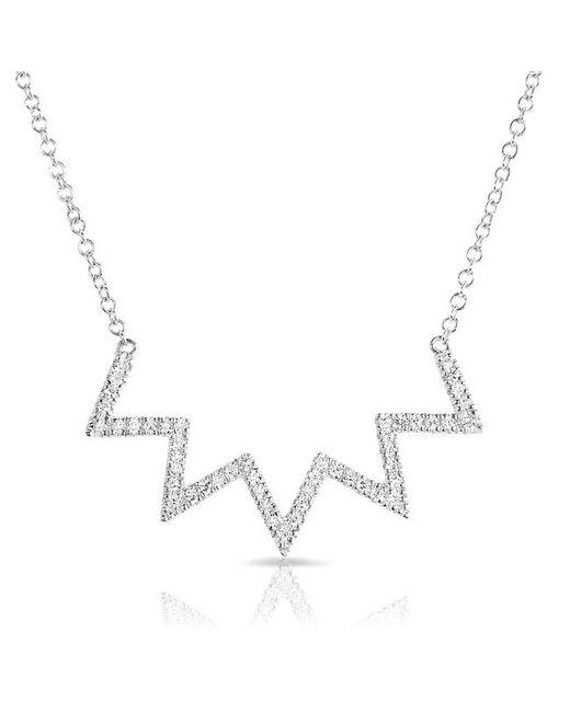 Anne Sisteron - Multicolor 14kt White Gold Diamond Chevron Crown Necklace - Lyst