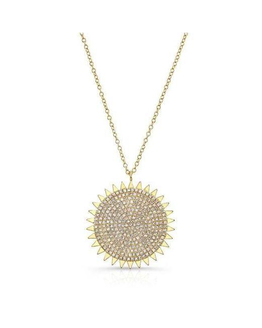 Anne Sisteron - Metallic 14kt Yellow Gold Diamond Sun Necklace - Lyst