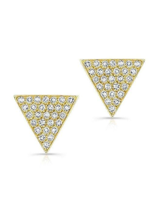 Anne Sisteron - Metallic 14kt Yellow Gold Diamond Large Triangle Emma Stud Earrings - Lyst