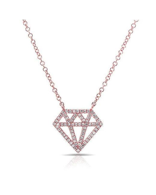 Anne Sisteron - Metallic 14kt Rose Gold Bling Diamond Necklace - Lyst