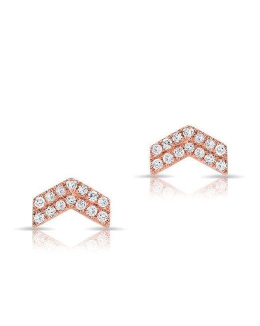 Anne Sisteron - Multicolor 14kt Rose Gold Diamond Mini Maverick Chevron Stud Earrings - Lyst