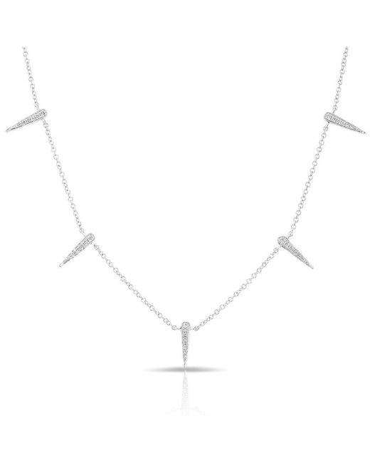 Anne Sisteron - Metallic 14kt White Gold Diamond Multi Mini Dagger Necklace - Lyst