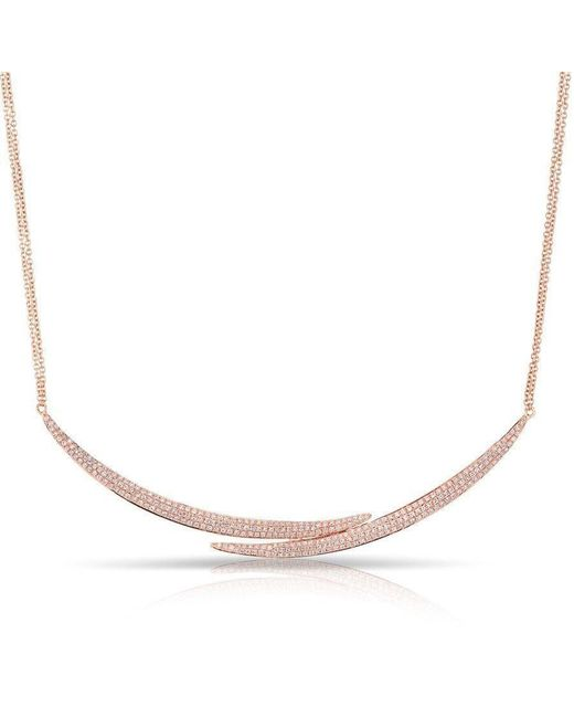 Anne Sisteron - Multicolor 14kt Rose Gold Diamond Horn Wrap Necklace - Lyst