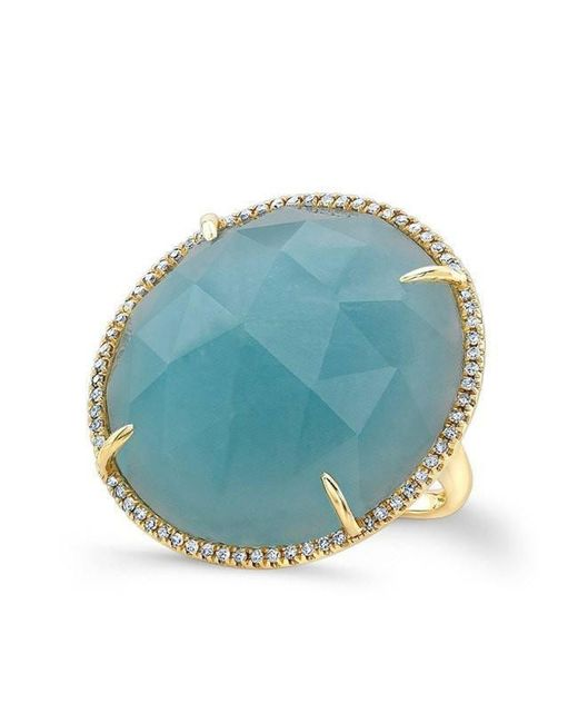 Anne Sisteron   Multicolor 14kt White Gold Diamond Triple Horn Ring   Lyst