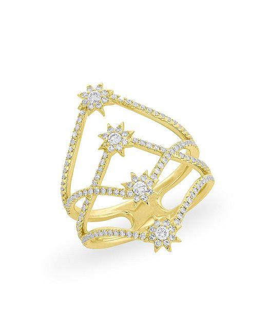 Anne Sisteron - Metallic 14kt Yellow Gold Diamond Fireworks Ring - Lyst