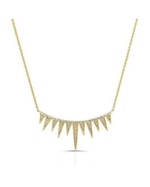 Anne Sisteron - Metallic 14kt Yellow Gold Diamond Spiked Tiara Necklace - Lyst
