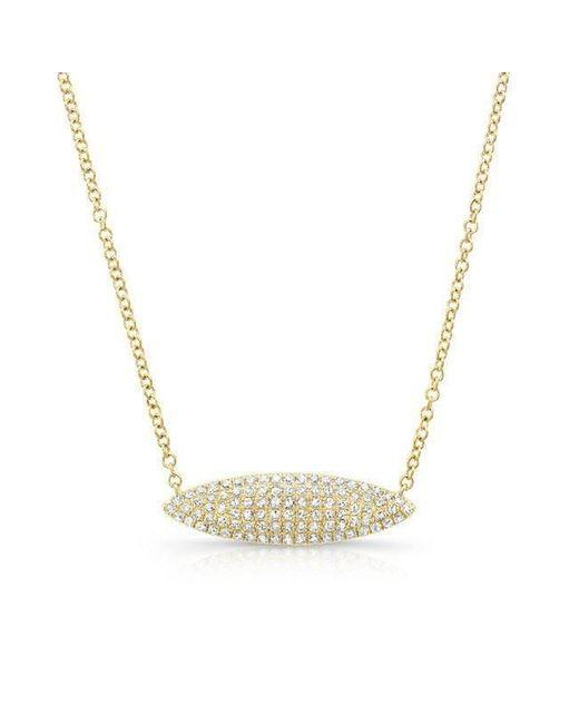 Anne Sisteron - Metallic 14kt Yellow Gold Diamond Alana Necklace - Lyst