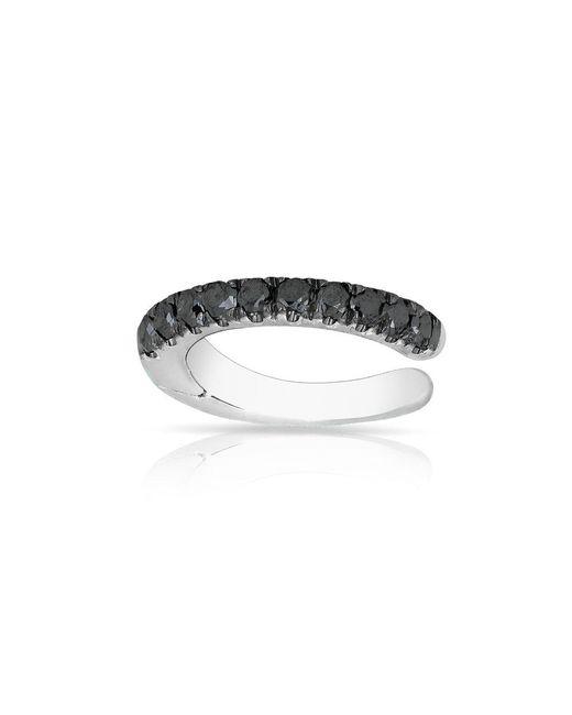 Anne Sisteron - 14kt White Gold Black Diamond Lola Hinge Ear Cuff - Lyst