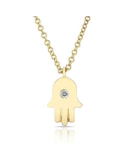 Anne Sisteron - Metallic 14kt Yellow Gold Hamsa Necklace - Lyst