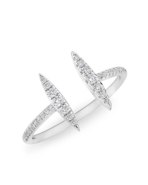 Anne Sisteron | Metallic 14kt White Gold Diamond Double Tower Ring | Lyst