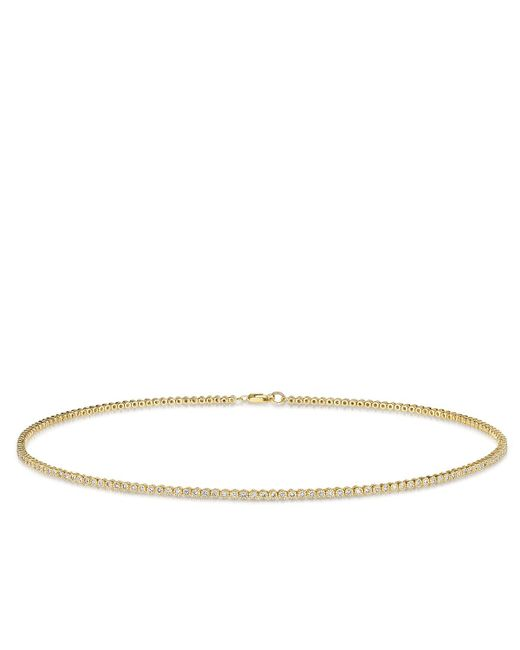 Anne Sisteron | Metallic 14kt Yellow Gold Diamond Leash Collection Choker Necklace | Lyst