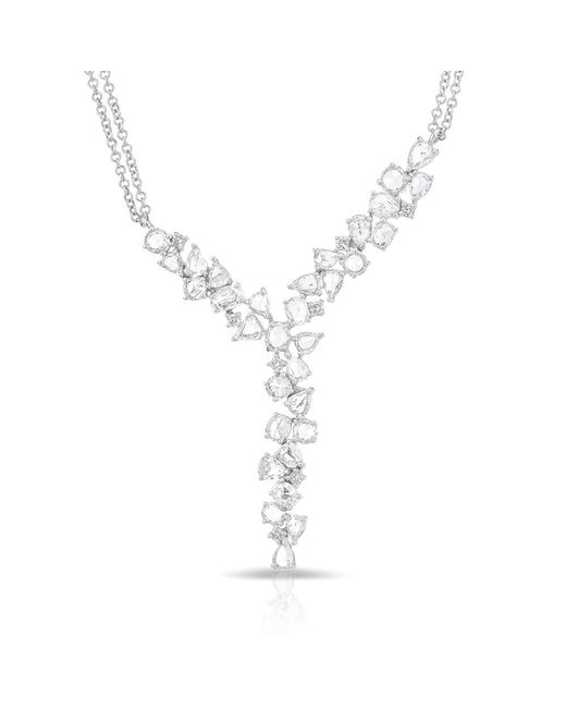 Anne Sisteron | Multicolor 14kt White Gold Diamond Cluster Yves Necklace | Lyst