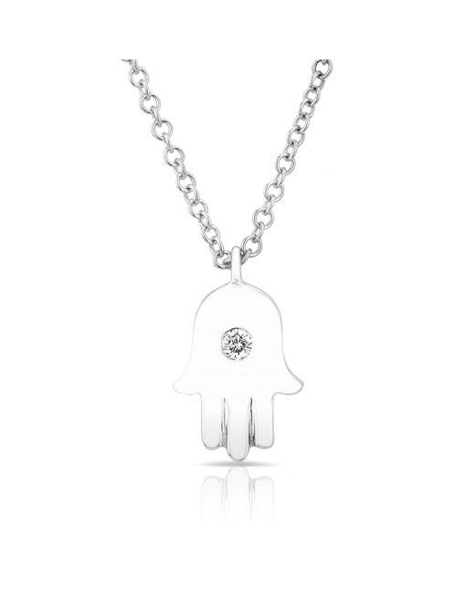 Anne Sisteron | Metallic 14kt White Gold Hamsa Necklace | Lyst