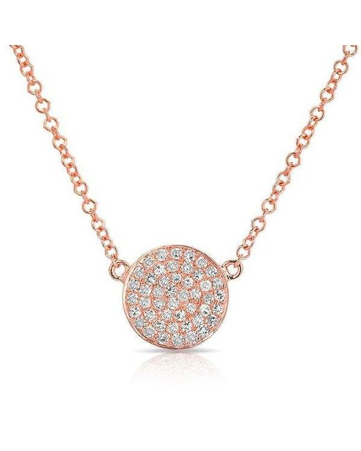 Anne Sisteron | Multicolor 14kt White Gold Diamond Small Disc Necklace | Lyst