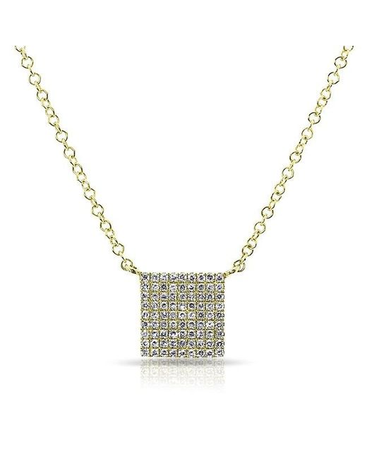 Anne Sisteron | Metallic 14kt Yellow Gold Diamond Square Necklace | Lyst
