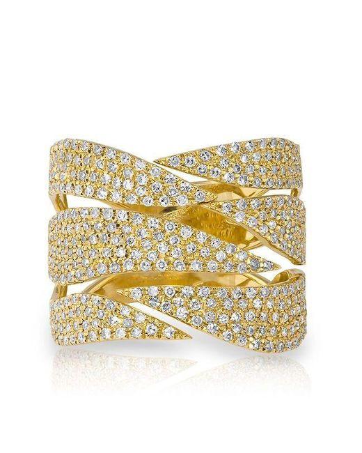 Anne Sisteron   Metallic 14kt Yellow Gold Diamond Flame Ring   Lyst