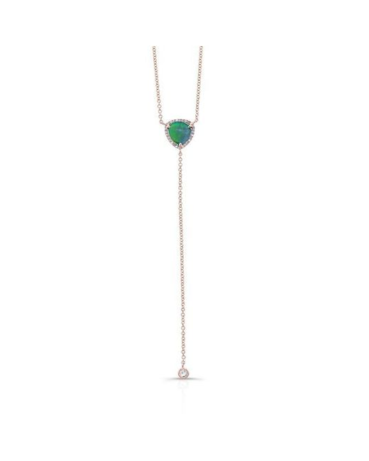 Anne Sisteron | Metallic 14kt Rose Gold Diamond Opal Lariat Flirt Lariat Necklace | Lyst