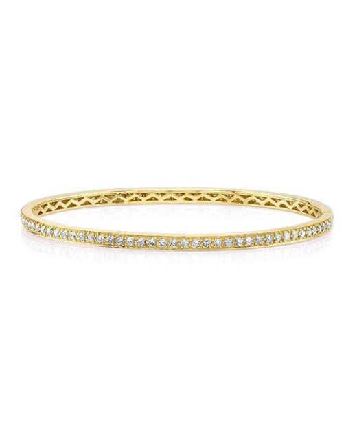 Anne Sisteron | Metallic 14kt Yellow Gold Diamond Shine Bangle Bracelet | Lyst