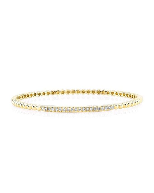 Anne Sisteron | Metallic 14kt Yellow Gold Diamond Shine Bangle Bracelet | Lyst