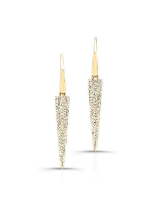 Anne Sisteron | Metallic 14kt Yellow Gold Diamond Dagger Drop Earrings | Lyst
