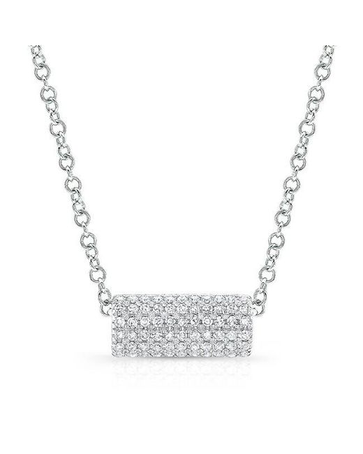 Anne Sisteron | Metallic 14kt White Gold Diamond Muffy Necklace | Lyst
