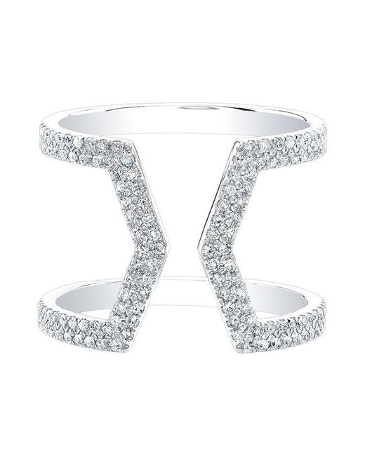 Anne Sisteron | Metallic 14kt White Gold Diamond Cinder Ring | Lyst